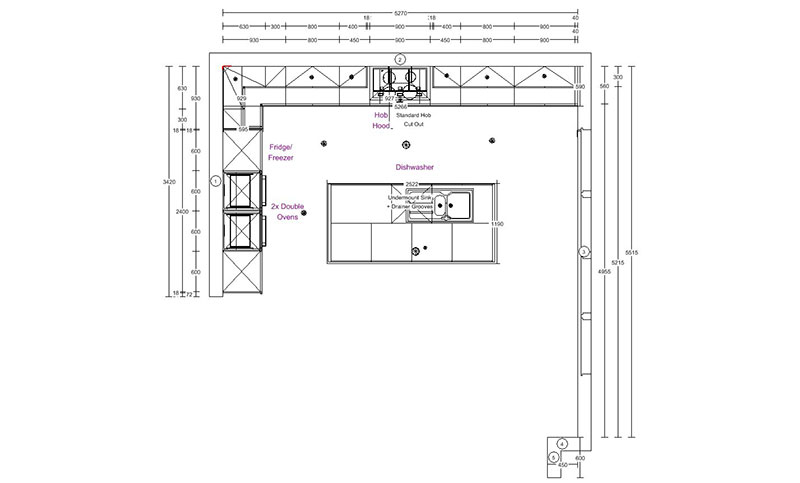 Applegate - Kitchen Floorplan
