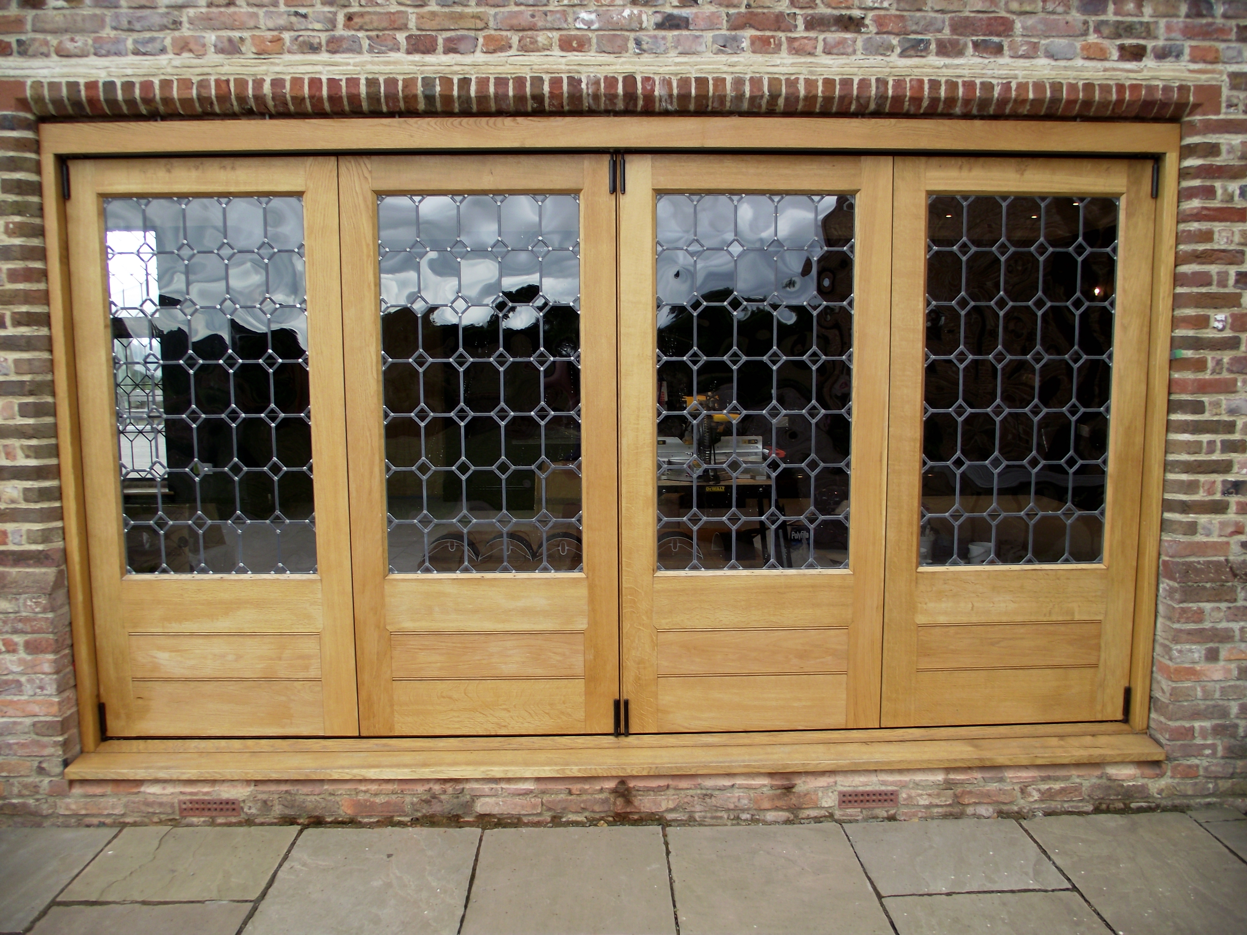 Oak Glazed Bifold doors